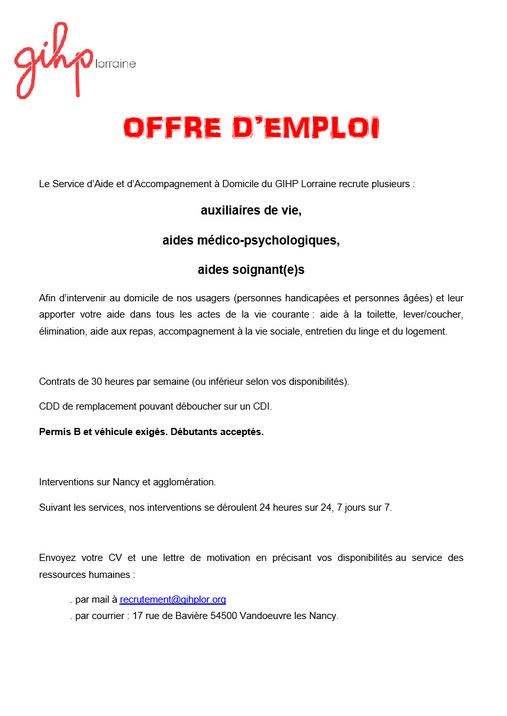 capture-offre-emploi-saad-gihp